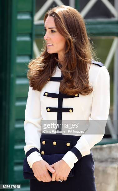 The Duchess of Cambridge during a visit to Bletchley Park in Buckinghamshire to mark the completion of a yearlong restoration project which has...