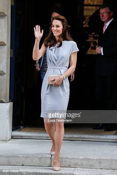 The Duchess Of Cambridge leaving a lunch in Support of the Anna Freud Centre����on May 4 2016 in London England