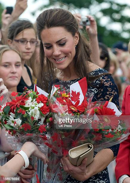 The Duchess Of Cambridge Meets The Crowds During Her Visit The National War Memorial In Ottawa Canada On The First Day Of Her Visit To The...