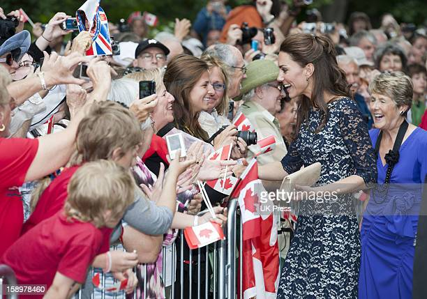 The Duchess Of Cambridge Meets The Crowds During Their Visit To The National War Memorial In Ottawa Canada On The First Day Of Their Visit To The...