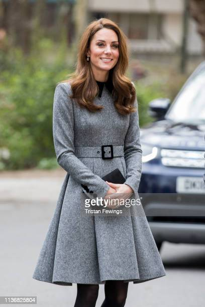 The Duchess Of Cambridge visits The Foundling Museum on March 19 2019 in London England to understand how they use art to make a positive...