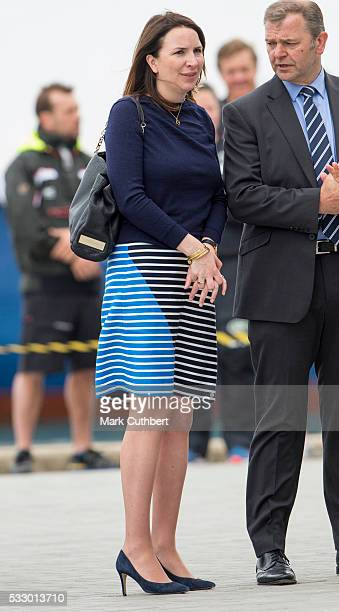 The Duchess of Cambridge's private secretary Rebecca Deacon during a visit by Catherine Duchess of Cambridge to Ben Ainslie Racing and the 1851 Trust...