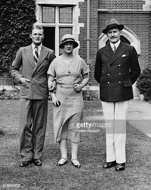 The Duchess of Connaught with her husband Prince Arthur Queen Victoria's son and their son the Earl of Macduff