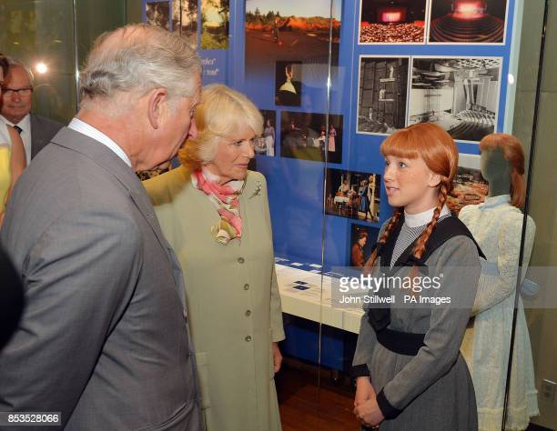 The Duchess of Cornwall and the Prince of Wales meets an actress Katie Kerr who is playing Anne of Green Gables at Province House Charlottetown...