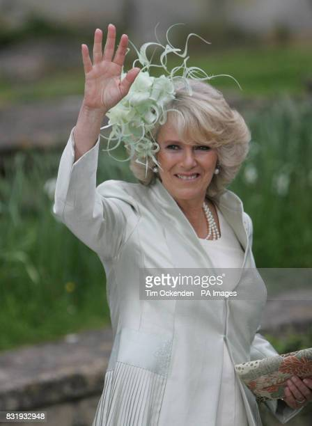The Duchess of Cornwall arrives at St Cyriac's Church in Lacock Wiltshire for the wedding of her daughter Laura Parker Bowles to former underwear...