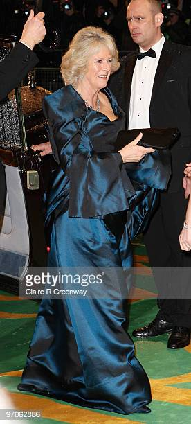The Duchess of Cornwall arrives at the Royal World Premiere of 'Alice In Wonderland' at Odeon Leicester Square on February 25 2010 in London England