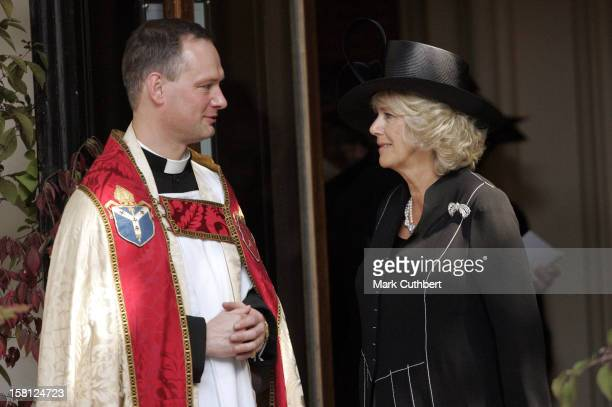 The Duchess Of Cornwall Attends A Memorial Service For Major Bruce Shand At St Paul'S Church In London'S Knightsbridge