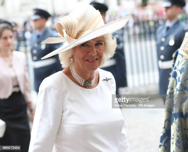 The Duchess of Cornwall attends a service at Westminster Abbey London to mark the centenary of the Royal Air Force