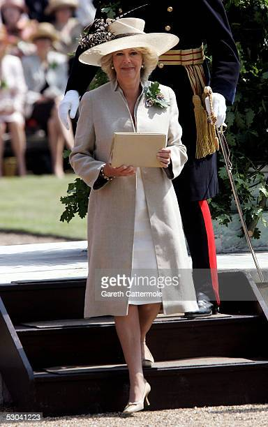 The Duchess Of Cornwall attends the annual Founders Day Parade at the Royal Hospital Chelsea on June 9, 2005 in London, England. Designed by Sir...