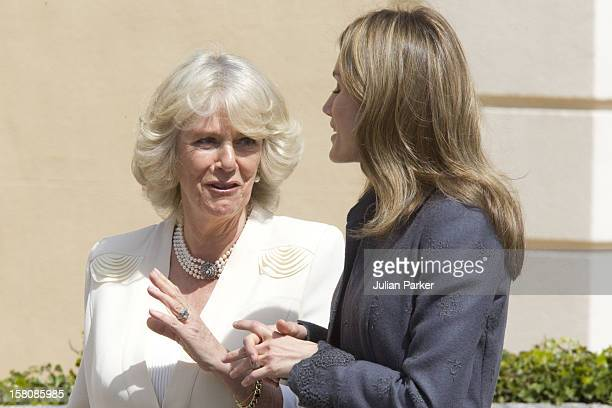 The Duchess Of Cornwall Camilla Parker Bowles Begins A Three Day Official Visit To Spain Seen Here During The Official Welcome At The Palacio De El...