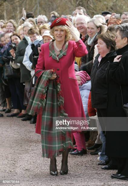 The Duchess of Cornwall in her first public engagement since marrying the Prince of Wales