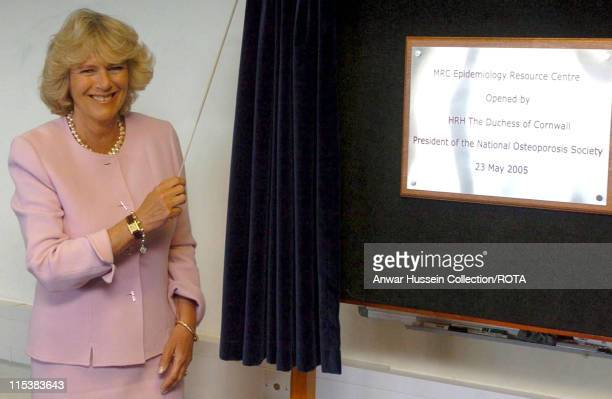 HRH The Duchess of Cornwall in her first solo public engagement visits Southampton General Hospital and celebrates the opening of a new building on...
