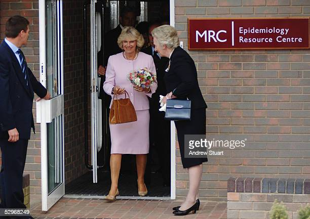 The Duchess of Cornwall leaves the MRC Epidemiology Resource Centre as part of her first solo engagement visiting Southampton Hospital's Osteoporosis...