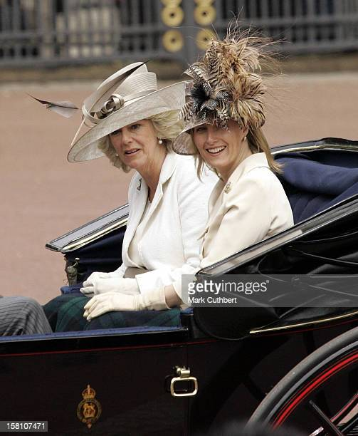 The Duchess Of Cornwall The Countess Of Wessex Attend The 2005 Trooping Of The Colour Ceremony In London