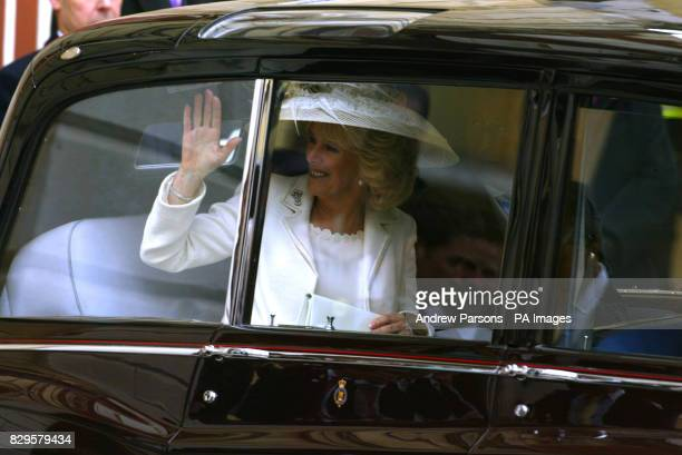 The Duchess of Cornwall waves