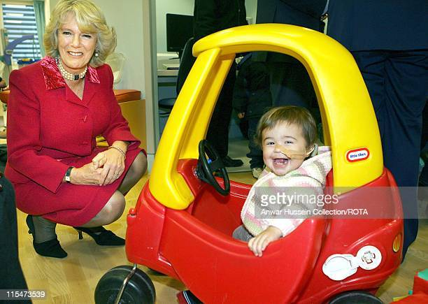 HRH The Duchess of Cornwall with 17 month old patient Tess Mcgregor in the play area at Great Ormond Street Hospital for Children in London November...