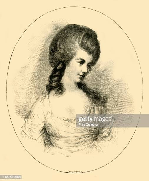 The Duchess of Devonshire' circa 1780 Georgiana Cavendish Duchess of Devonshire From The Leisure Hour 1881 by [The Religious Tract Society London...