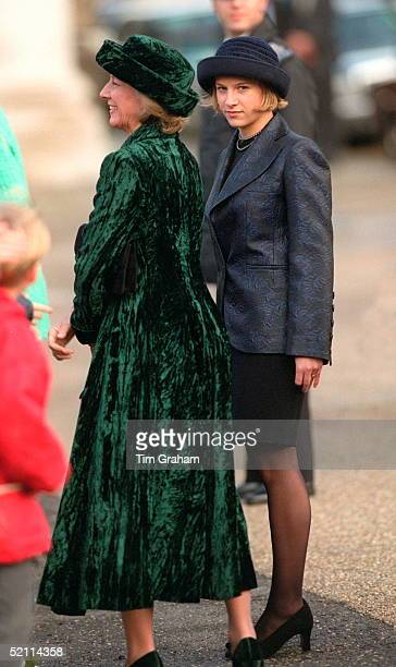 The Duchess Of Gloucester And Her Daughter Lady Rose Windsor Arriving At A Lunch At The Royal Naval College In Greenwich For Members Of Royal...