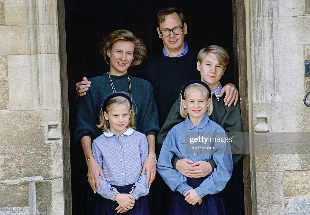 Duke And Dss Of Gloucester With Children : News Photo