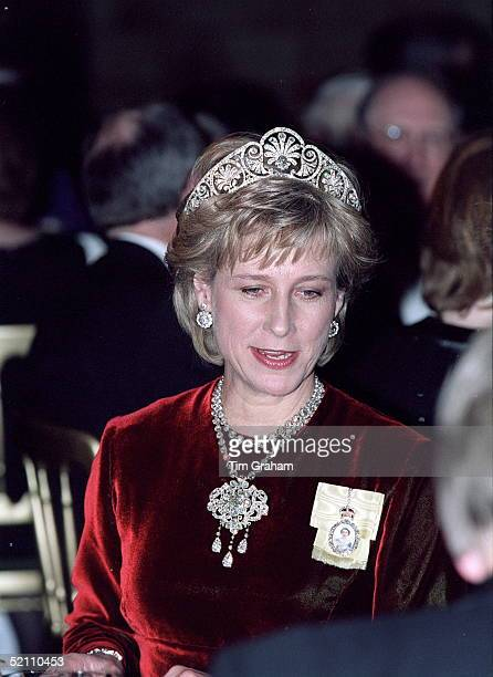 The Duchess Of Gloucester At The Banquet At The Natural History Museum In London Hosted By The Queen Of Denmark