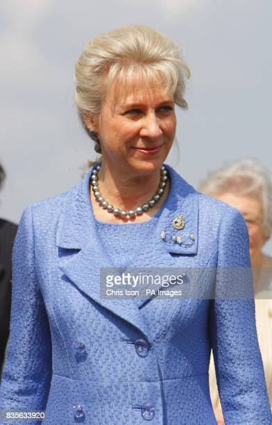 The Duchess of Gloucester at the Historic Dockyard in Chatham Kent before attending a service to mark the first annual Armed Forces Day