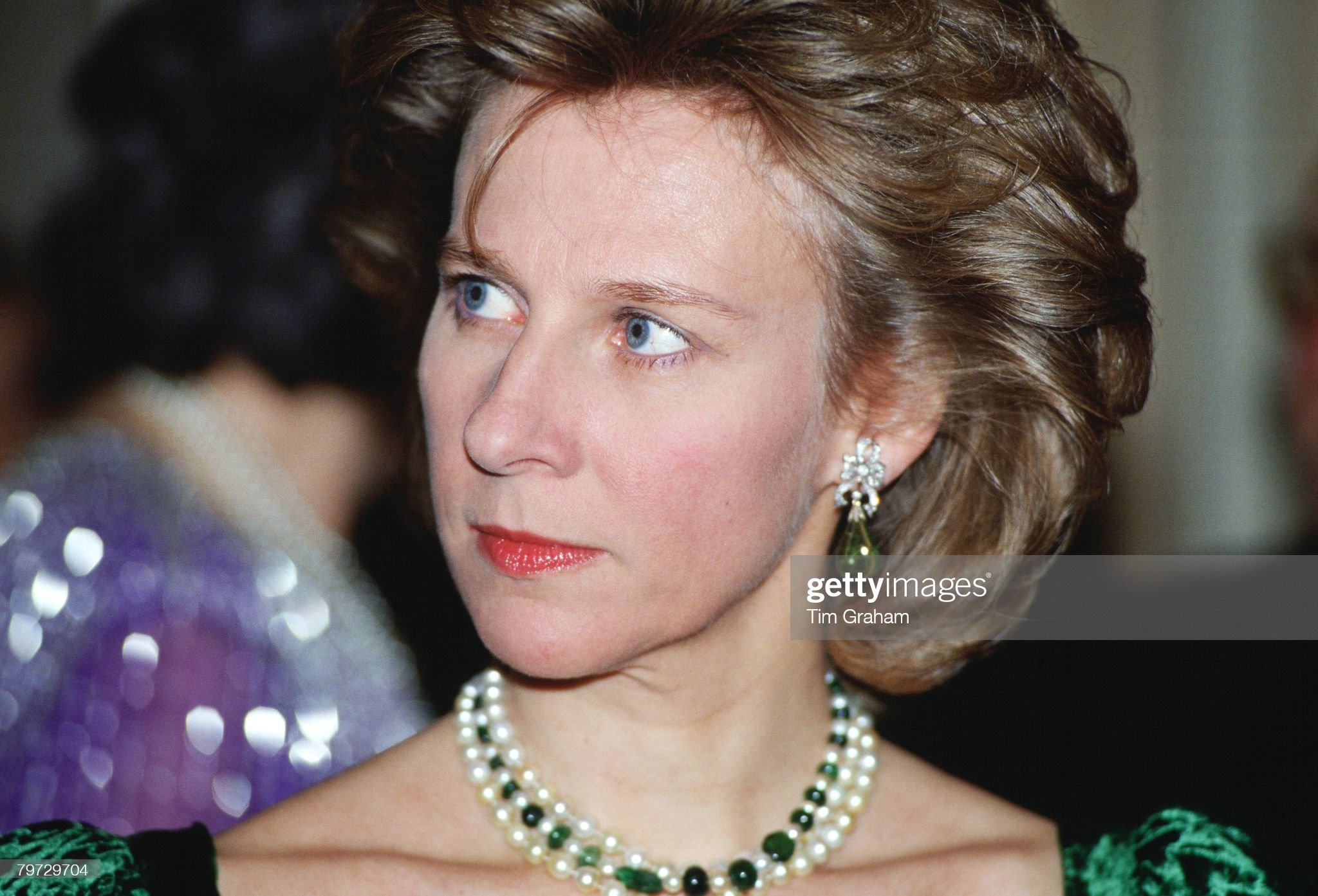 The Duchess of Gloucester attending a banquet at the Hilton : News Photo