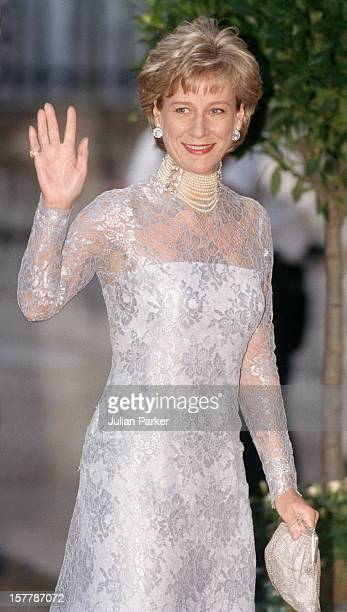 The Duchess Of Gloucester Attends A Gala At Bridgewater House Prior To The Wedding Of Princess Alexia Of Greece And Carlos Morales Quintana.
