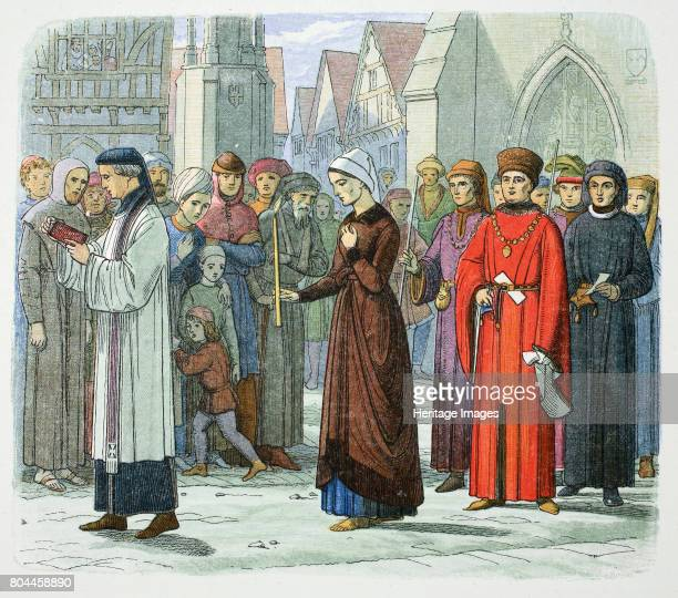 The Duchess of Gloucester does penance 1441 Eleanor Cobham Duchess of Gloucester was charged with unlawful commerce with Marjory Jourdemain 'the...