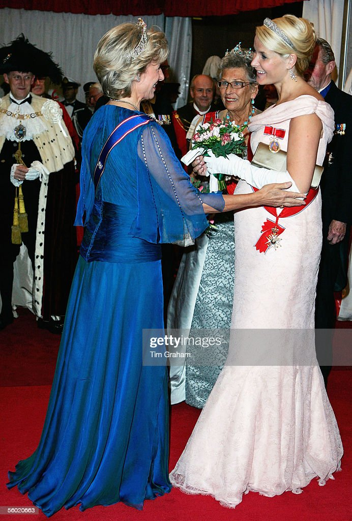 Norwegian Royals Attend Guildhall Dinner : News Photo