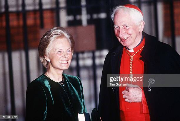 The Duchess Of Kent After Being Accepted Into The Roman Catholic Church At Archbishop's House London With Cardinal Hume Circa 1990s