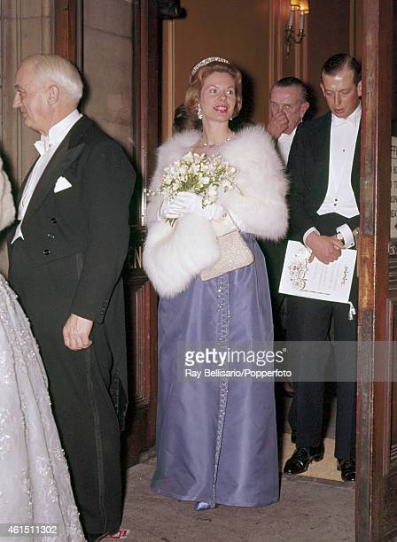 The Duchess of Kent and the Duke leaving Her Majesty's Theatre in London on 7th February 1962 This image is one of a series taken by Ray Bellisario...