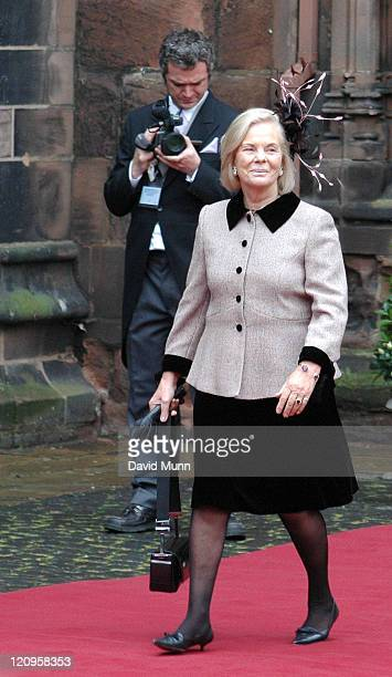 The Duchess of Kent at the wedding of Lady Tamara Katherine Grosvenor and Edward Bernard Charles van Cutsem at Chester Cathedral on Saturday November...