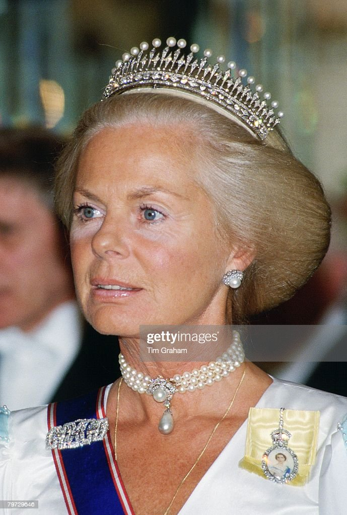 The Duchess of Kent attends a banquet held at Claridges Hote : News Photo