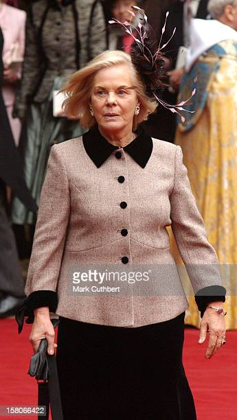 The Duchess Of Kent Attends The Wedding Of Lady Tamara Katherine Grosvenor Edward Van Cutsem At Chester Cathedral