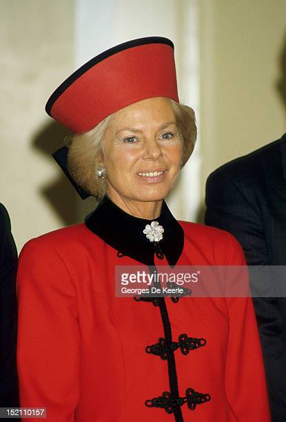 The Duchess of Kent attends the wedding of Sylvana Palma Tomaselli to George Windsor Earl of St Andrews in Leith on January 9 1988