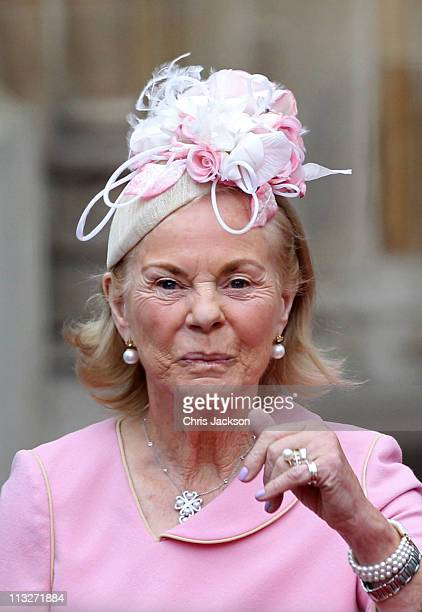 The Duchess of Kent exits following the marriage of Prince William Duke of Cambridge and Catherine Duchess of Cambridge at Westminster Abbey on April...