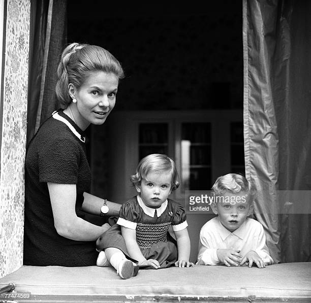 HRH The Duchess of Kent with her children The Earl of St Andrews and Lady Helen Windsor at their home Coppins near Iver Buckinghamshire 17th March...