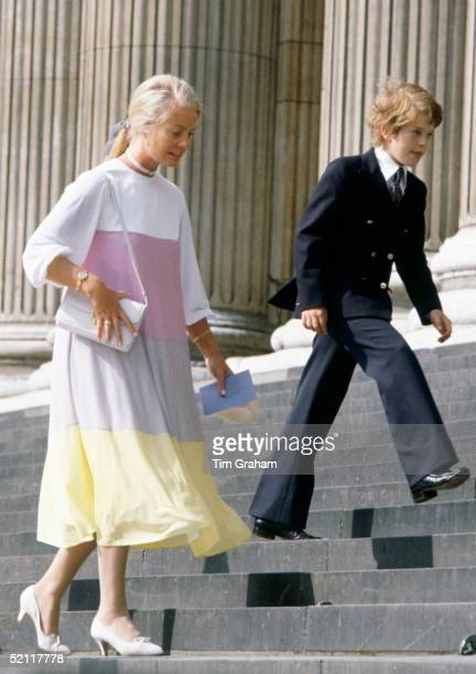 The Duchess Of Kent With Her Son Lord Nicholas Windsor Arriving At St Paul's For A Wedding Rehearsal