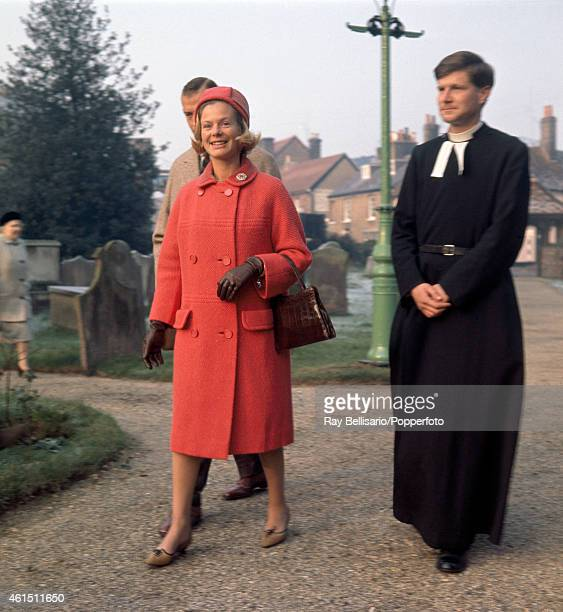 The Duchess of Kent with the Duke attending church in Iver Buckinghamshire on 8th December 1963 This image is one of a series taken by Ray Bellisario...