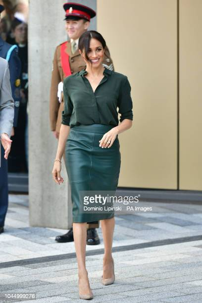 The Duchess of Sussex arrives at the University of Chichester Bognor Regis West Sussex as part of her first joint official visit to Sussex