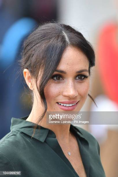 The Duchess of Sussex arrives at the University of Chichester, Bognor Regis, West Sussex, as part of her first joint official visit to Sussex.