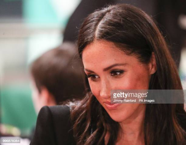 The Duchess of Sussex visits DogPatch Labs, a co-working space for technology start-ups located in Dublin's 'Digital Docklands' during her visit to...
