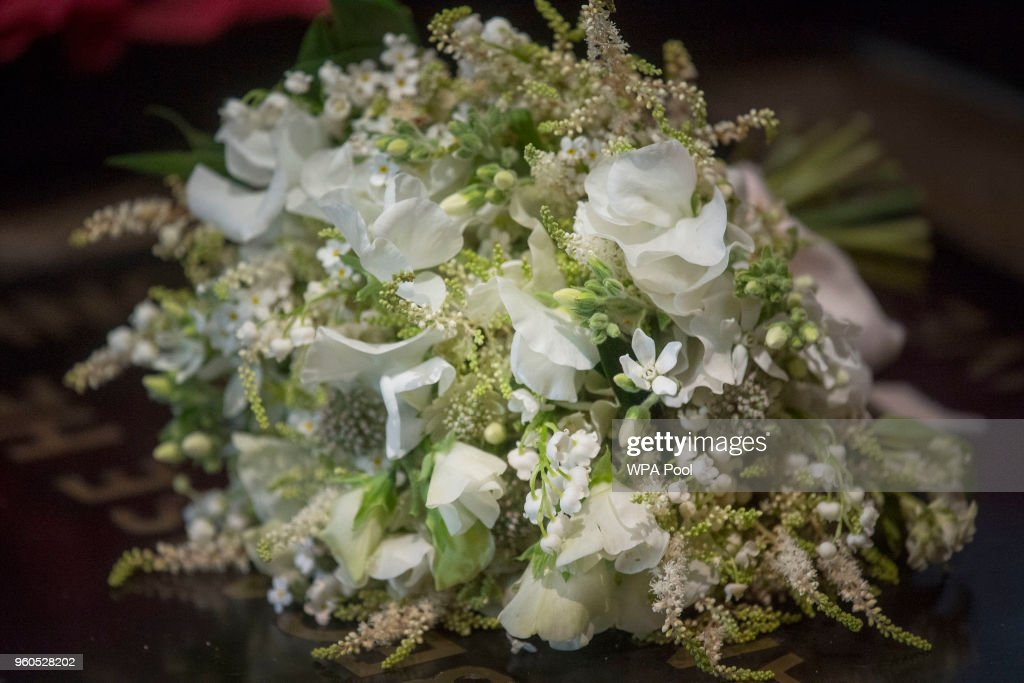The Duchess of Sussex's Wedding Bouquet Rests On The Grave of The Unknown Warrior : News Photo