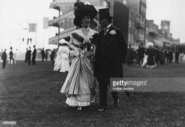 The Duchess Of Westminster Constance Edwina first wife of the 2nd Duke of Westminster Hugh Richard Arthur Grosvenor seen here with the Earl of...
