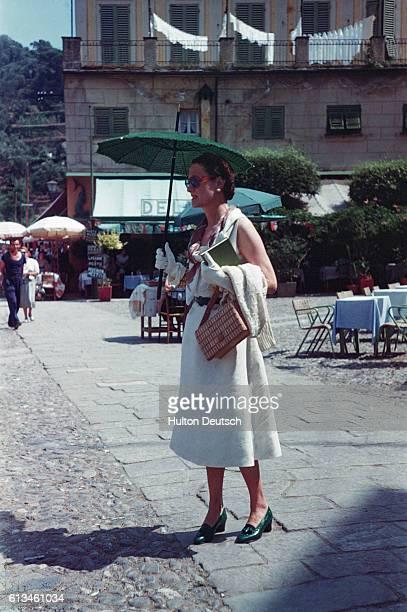 The Duchess Of Windsor At Portofino 1951