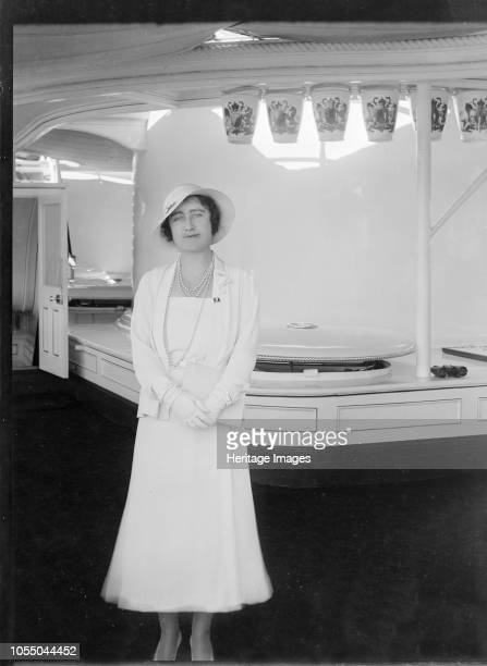 The Duchess of York aboard 'HMY Victoria and Albert', 1933. Lady Elizabeth Bowes-Lyon , the future queen consort to King George VI, on board the...