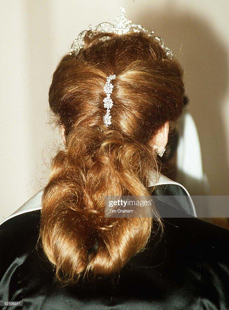 Sarah Ferguson Hair Jewellery : News Photo