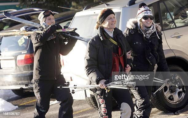The Duchess Of York Princess Beatrice Boyfriend Dave Clark In Verbier Switzerland