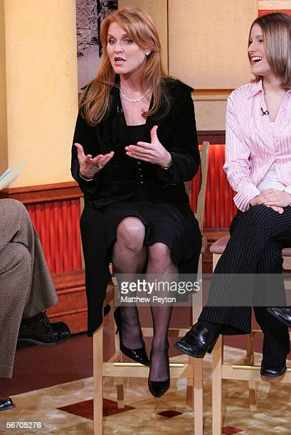 The Duchess of York Sarah Ferguson appears on Good Morning America at Times Square Studios January 30 2006 in New York City