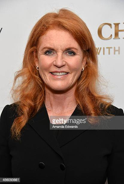 The Duchess of York Sarah Ferguson arrives at The British American Business Council Los Angeles 54th Annual Christmas Luncheon at the Fairmont...